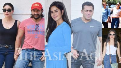 Bollywood celebrities like Salman Khan, Katrina Kaif, Kareena Kapoor Khan, Saif Ali Khan, Radhika Madan, Sanya Malhotra, Shraddha Kapoor and others were clicked in the city of dreams, Mumbai. (Photos: Viral Bhayani)
