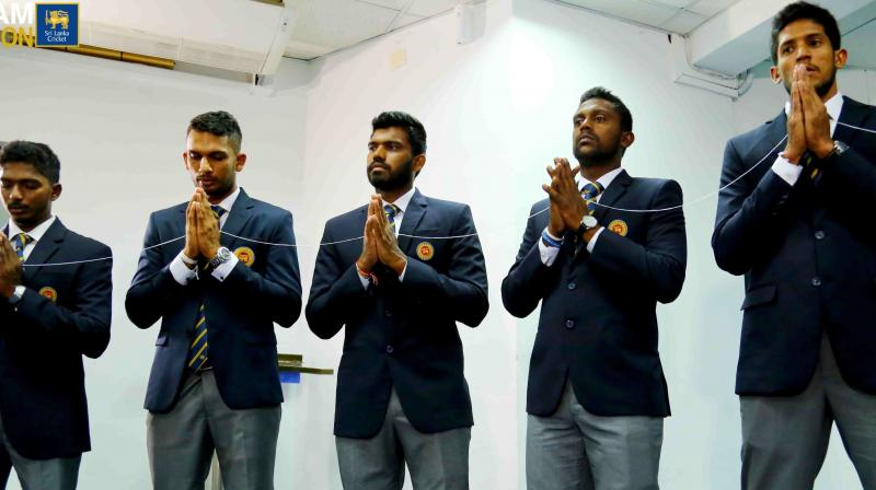 Sri Lanka's cricket board received the all-clear from the defence ministry last week to go ahead with the tour after establishing that there was no threat. (Photo: Sri Lanka Cricket/Twitter)