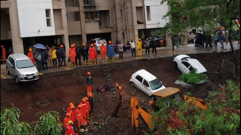 An NDRF team has been rushed to the spot (Photo: ANI | Twitter)
