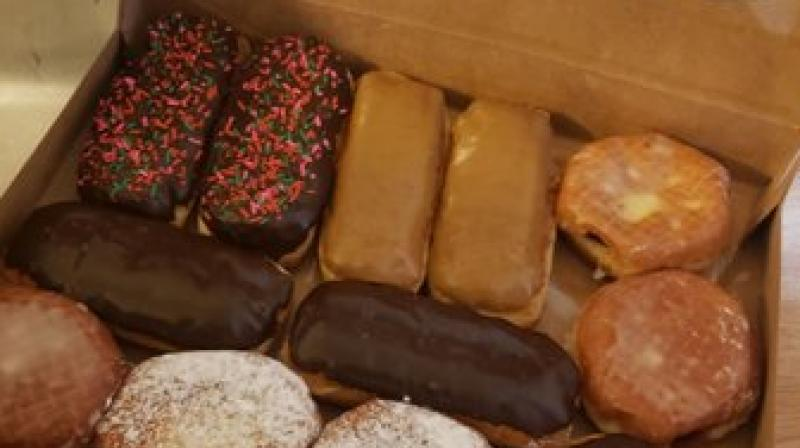 But fearing that the police officers would be angry with him for the break-in, the suspect had brought along a 'peace offering': a fresh box of donuts. (Photo: King County Sheriff's Office)