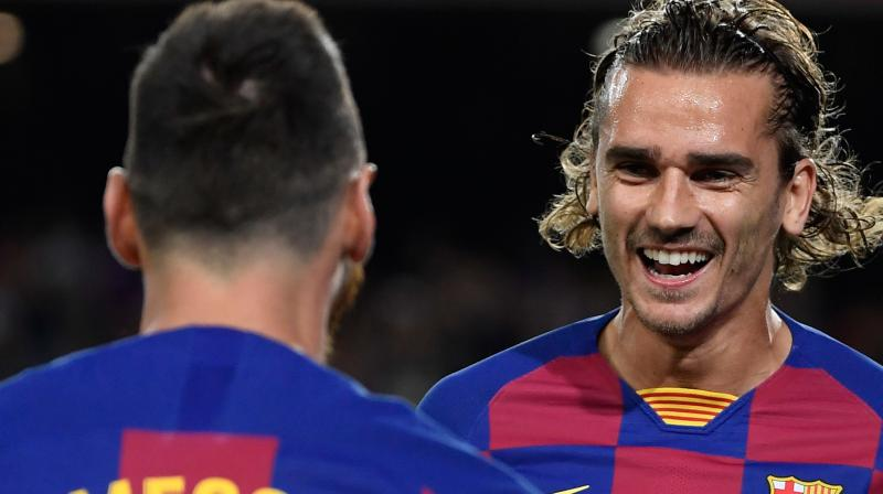 Despite the 2-1 win against Villarreal in the La Liga game on Wednesday, Barcelona striker Antoine Griezmann feels that the club is not at its best and will get better with the upcoming matches. (Photo:AFP)