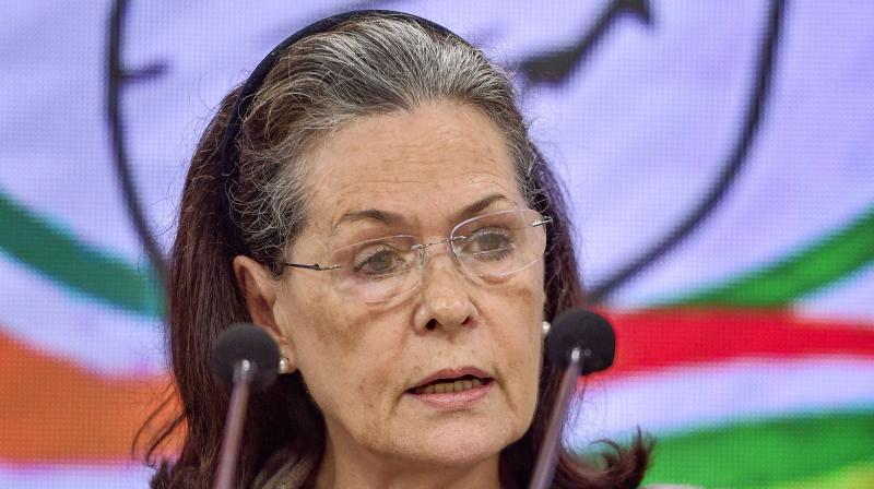 Sonia Gandhi has suggested a blanket 30 per cent cut in expenditure. (File photo: PTI)