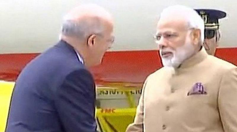 Prime Minister Modi is the second Indian Prime Minister to visit Portugal. (Photo: PIB Twitter)