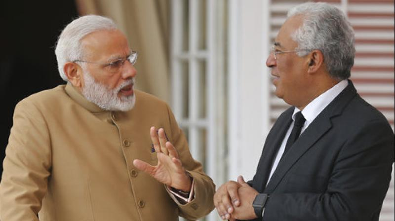 Before leaving for Lisbon, Modi had said during his meeting with Costa, the two leaders will build on their recent discussions and review the progress of various joint initiatives and decisions. (Photo: AP)