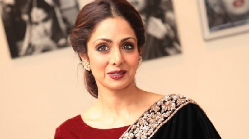 Sridevi snapped at an event.