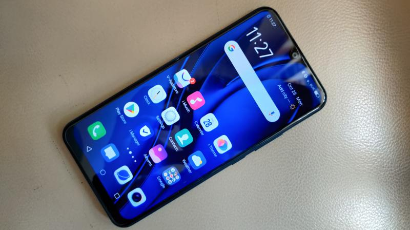There is a 6.35-inch display on the front of teh Vivo U10 with a dew-drop notch on the top.