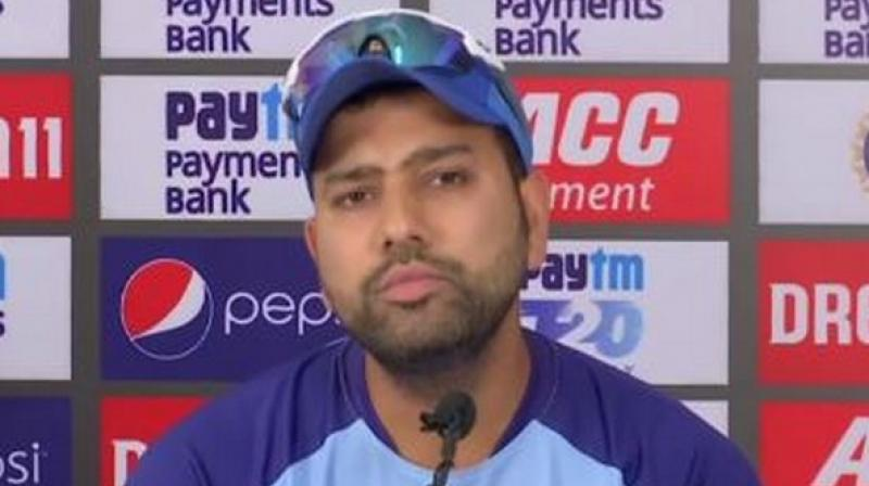 Ahead of the series-decider against West Indies, India batsman Rohit Sharma said that they are not scared of any team and have the ability to win any game. (Photo: ANI)