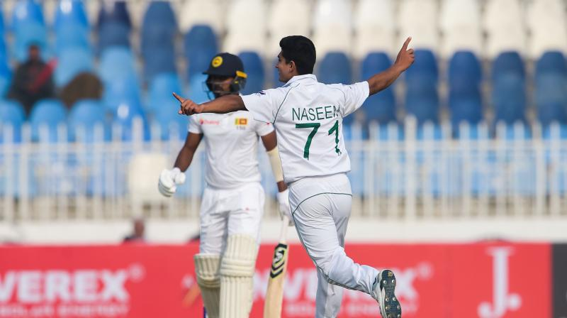 Test cricket made its long-awaited return to Pakistan after a deadly attack in 2009, with the home team led by fast bowler Naseem Shah dominating Sri Lanka on Wednesday. (Photo: AFP)