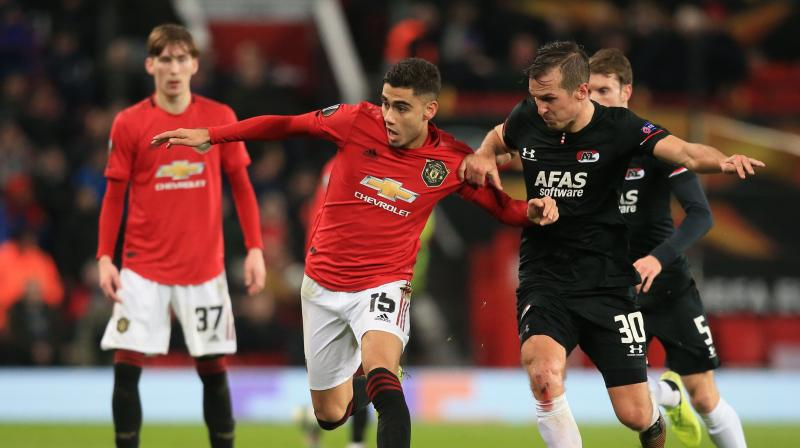 Manchester United on Friday thrashed AZ Alkmaar 4-0 in the final game of the group stage of Europa League. (Photo: AFP)