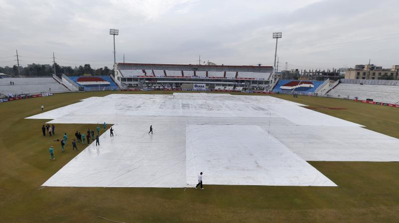 Day three of the first Test between Sri Lanka and Pakistan was delayed due to puddles on the ground on Friday. (Photo: