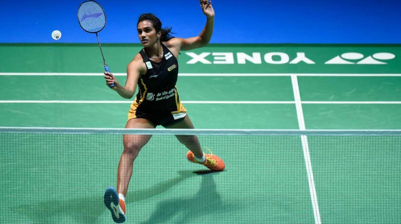 India's PV Sindhu recorded a consolation win over China's He Bingjiao in the third Group A match to end her campaign on a positive note at the year-ending BWF World Tour Final. (Photo: Twitter)