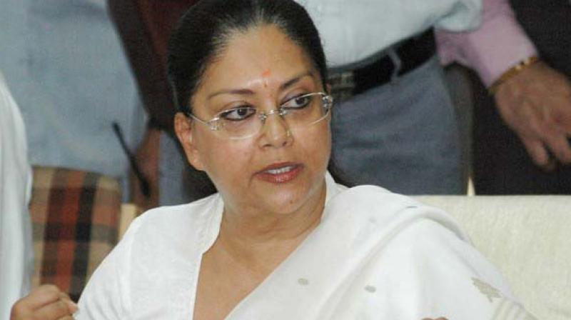 Rajasthan chief minister Vasundhara Raje (Photo: File)