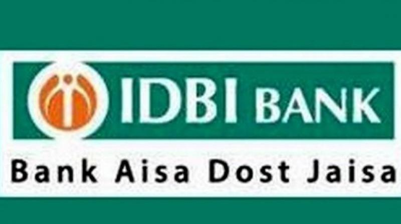 IDBI shares fell as much as 3.5 per cent to 73.6 rupees.