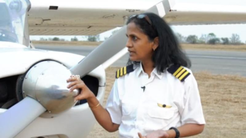 The percentage of female pilots in India is twice as high as in most Western countries. (Photo: YouTube)