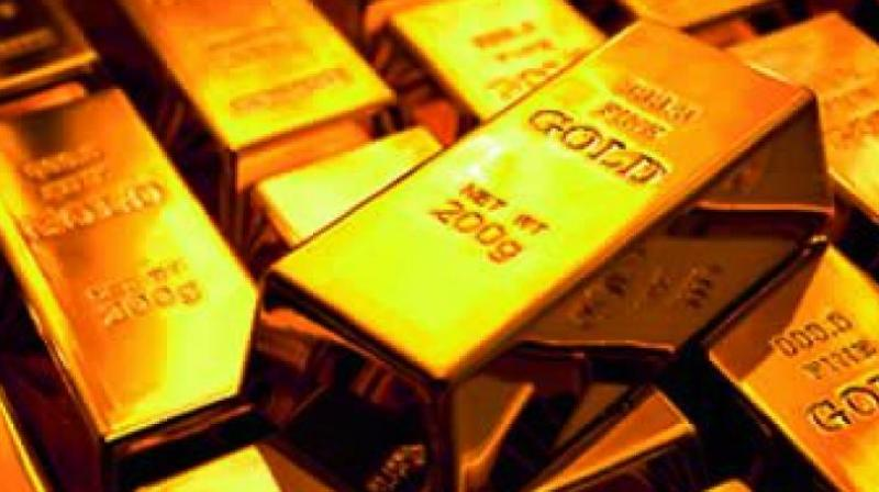 In the national capital, gold of 99.9 per cent and 99.5 per cent purity reduced by Rs 405 and Rs 395 to Rs 32,385 and Rs 32,225 per 10 gram, respectively. (Representational Image)