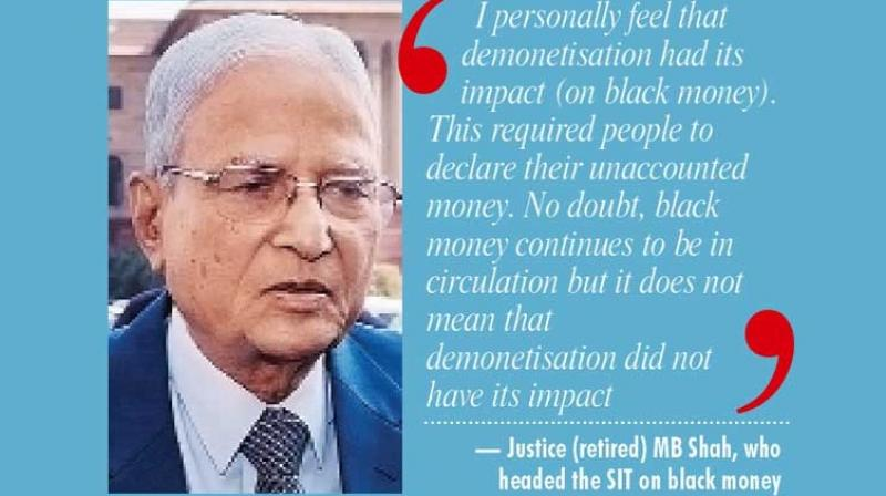 Justice (retired) MB Shah, who headed the SIT on black money.