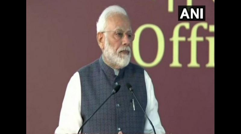 'Our aim is to make evidence-based policy-making an integral part of governance by the year 2022. It will also help in creating a new identity of New India. So is the right phase for the transformation of audit and assurance sector. Now CAG also has to move towards CAG 2.0,' said Modi. (Photo: ANI)