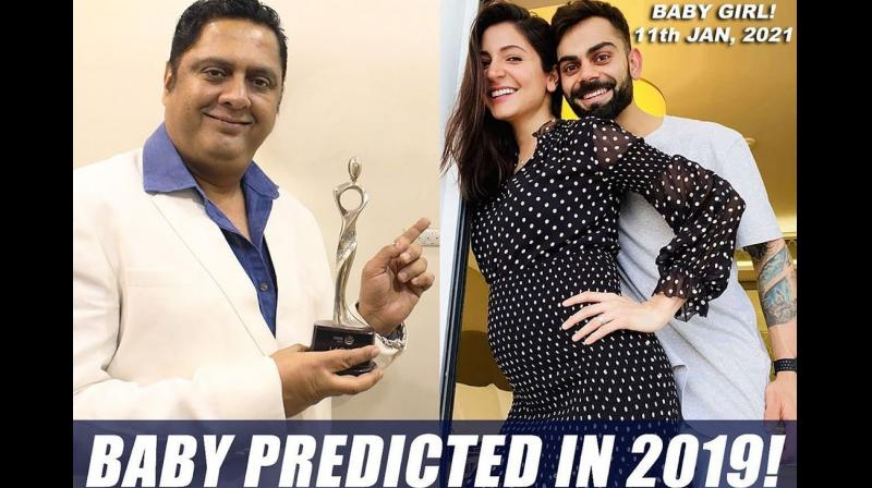 Astro numerologist Sanjay B. Jumaani had predicted before anyone else that Anushka and Virat would have a baby this year.