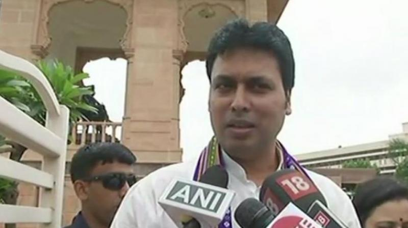 The Chief Minister also said that the state government would launch a scheme to distribute cows among 5,000 families. (Photo: ANI)
