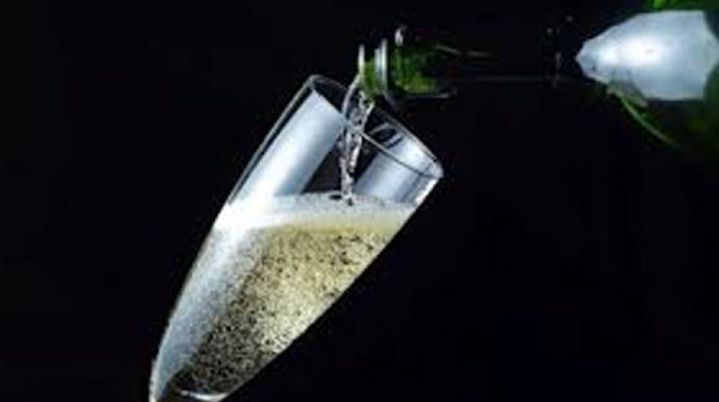 The study involved using high-speed photography to see what exactly happens to a champagne bubble. (Photo: AFP)