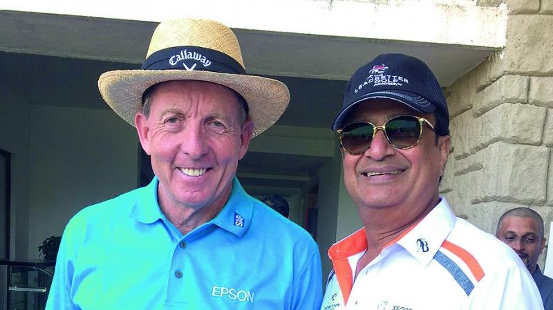 David Leadbetter with Anil Seolekar at the launch of Leadbetter Golf Academy in Pune.