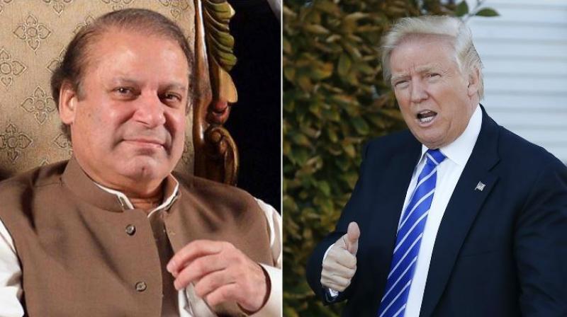 Pakistan Prime Minister Nawaz Sharif and US President-elect Donald Trump. (Photo: AP)