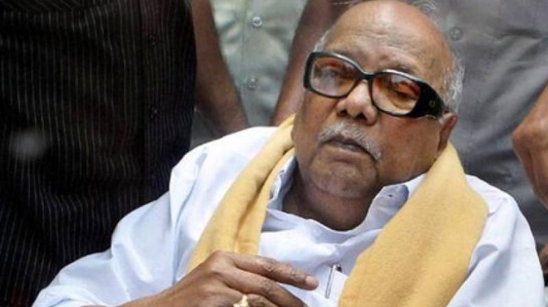 The 94-year-old leader, a five-time chief minister of Tamil Nadu, breathed his last at Kauvery Hospital in downtown Chennai at 6:10 pm on Tuesday. (Photo: File | PTI)