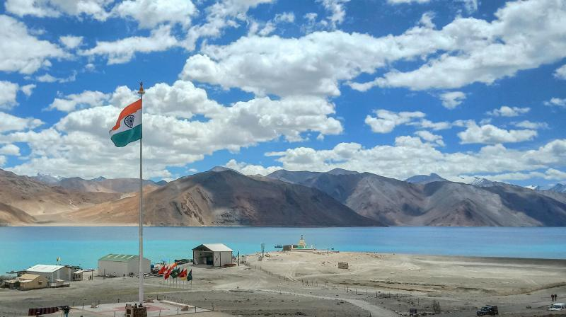 A view of Lukung in Easten Ladakh. PTI photo