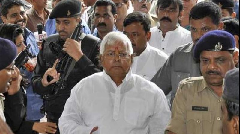 On Sept 30, 2013, Lalu Yadav was held guilty in another case of illegal withdrawal of Rs 37.70 crore from the Chaibasa treasury and sentenced to jail for five years. (Photo: ANI Twitter/File)