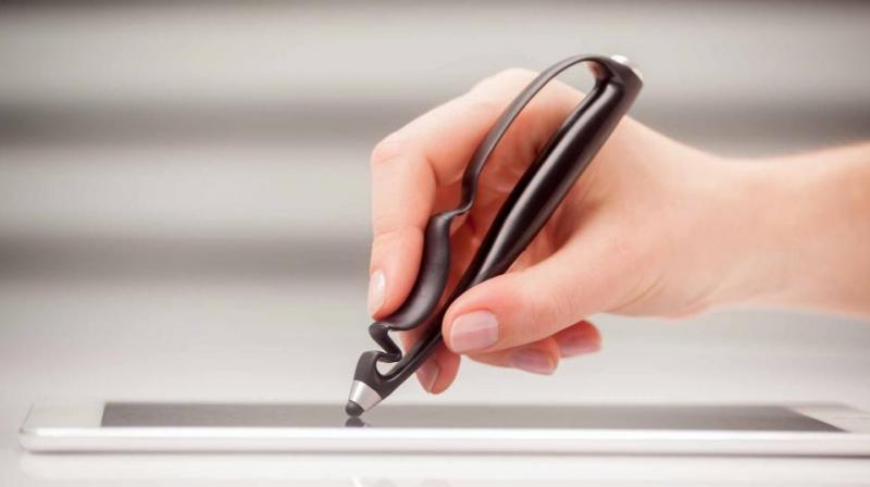 The Scriba is built using durable plastic, and designed for an ergonomic stylus/pen/pencil/brush feel.