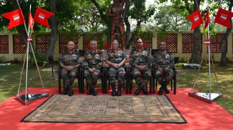 The COAS was accompanied by Lt Gen MM Naravane, General Officer Commanding-in-Chief Eastern Command. (Photo: Rajib Chowdhuri/ Deccan Chronicle)