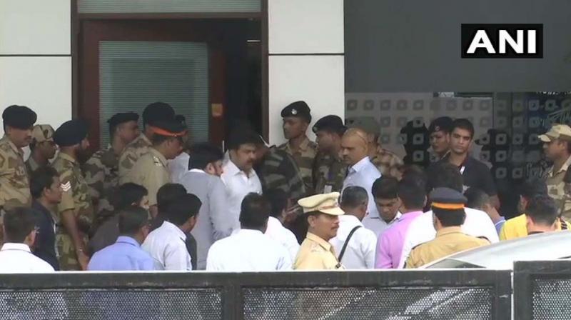 The legislators, who had been staying at Renaissance Hotel in Powai, left the hotel at 2 pm and reached Chhatrapati Shivaji Maharaj International Airport. (Photo: ANI)