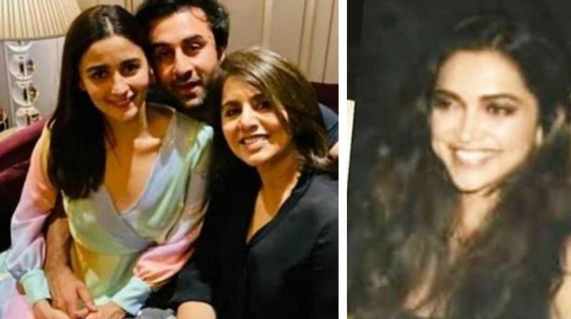 Alia Bhatt, Ranbir Kapoor, Neetu Kapoor and Deepika Padukone. (Image Source: Instagram)