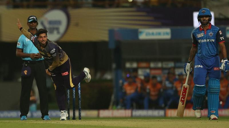 The famed trio of Kuldeep Yadav, Sunil Narine and Piyush Chawla have accounted for just 16 wickets from 10 matches, summing up their misery. (Photo: BCCI)