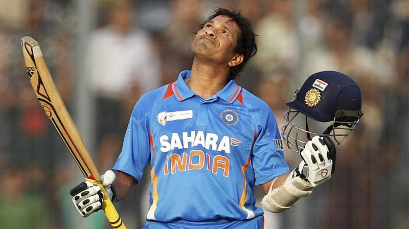 Tendulkar amassed 18,426 runs in ODI and is 4,192 runs ahead of the second positioned batsman Kumar Sangakkara. (Photo: AP)