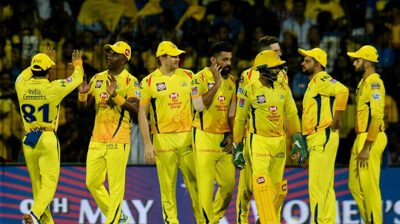 The Chennai Super King s team.