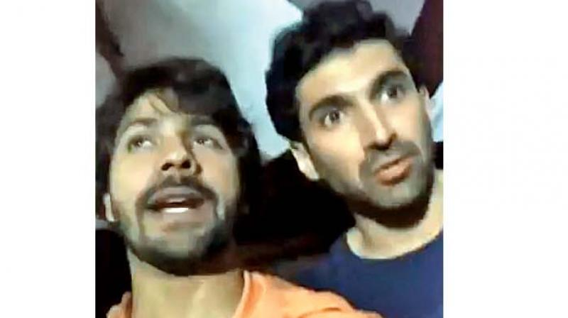 A screen grab of the video posted by Varun.
