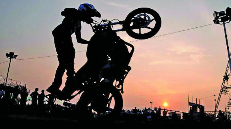 Spots like Marine Drive, Bandra Reclamation stretch that starts after the sealink towards the Western Express Highway, Bandra, Govandi are favourites red hot spots for bikers. (Photo: File | Representational)