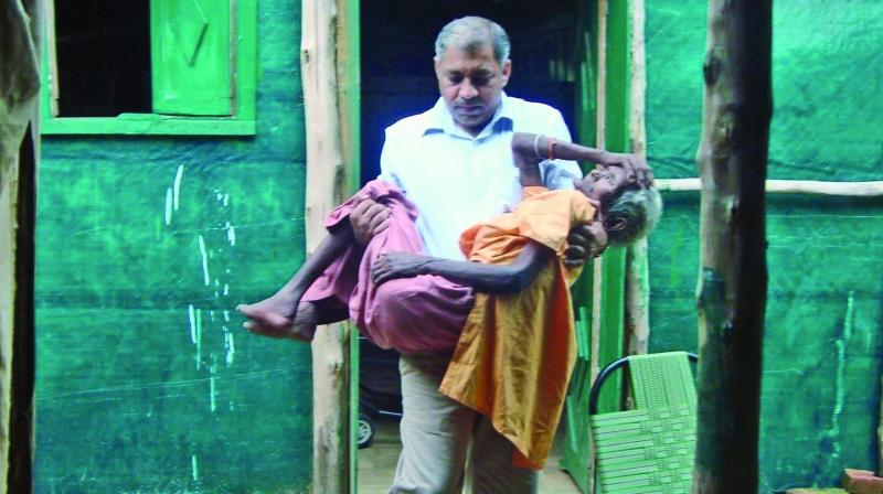 Ravi Kalra with one of his patients.