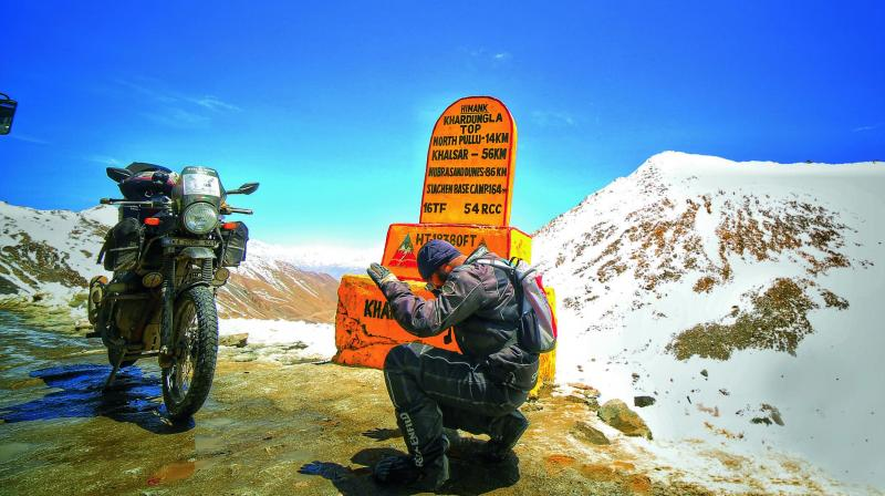 The 26-year-old recently covered a tour — 'Lights, Camera, Ladakh' — covering 11,000 km alone in 40 days across 13 states.