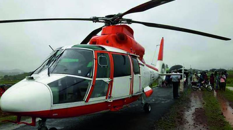 The helicopter has reportedly not suffered any damage. The copter would have carried BSF jawans from Koraput to Visakhapatnam.
