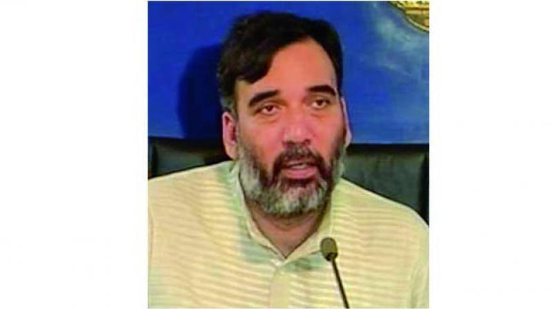 Delhi development minister Gopal Rai.