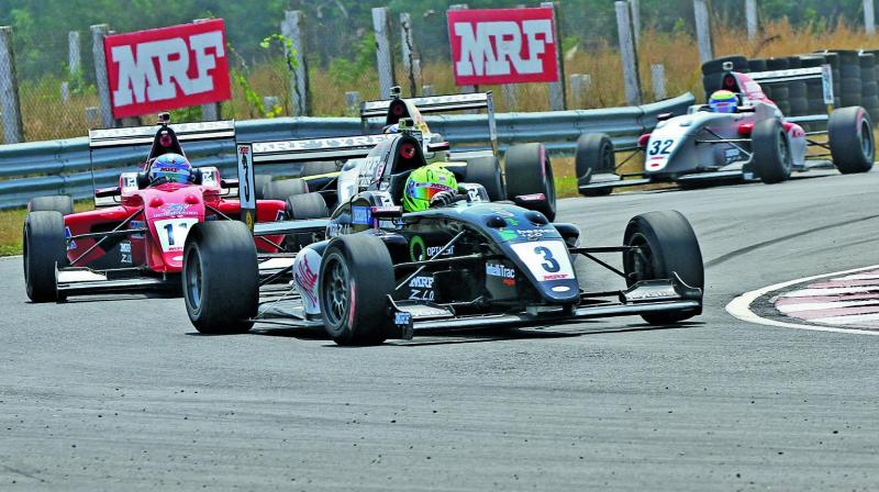 The MRF FF1600 class is becoming a four-driver contest involving Sandeep Kumar, Chetan Korada, Arya Singh and Ishaan Dodhiwala.