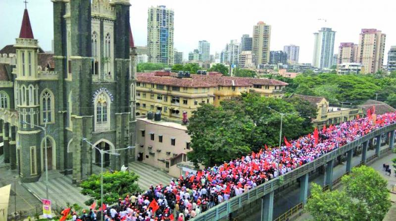 According to the police, three lakh people attended the mega march on August 9 in Mumbai.