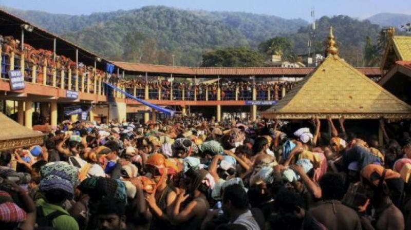 The Kshetra Samrakshana Samiti urged Supreme Court not to tinker with the age-old custom and religious practice and said allowing women in the age group of 10 to 50 to enter the Ayyappa temple 'will lead to social tensions in Kerala.' (Photo: File)