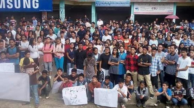The apex students' body, which launched the drive on August 17, also had a discussion with the All Assam Students' Union (AASU) and apprised them about their drive. (Photo: ANI)