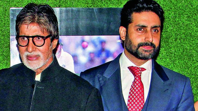 File image of Amitabh and Abhishek Bachchan.