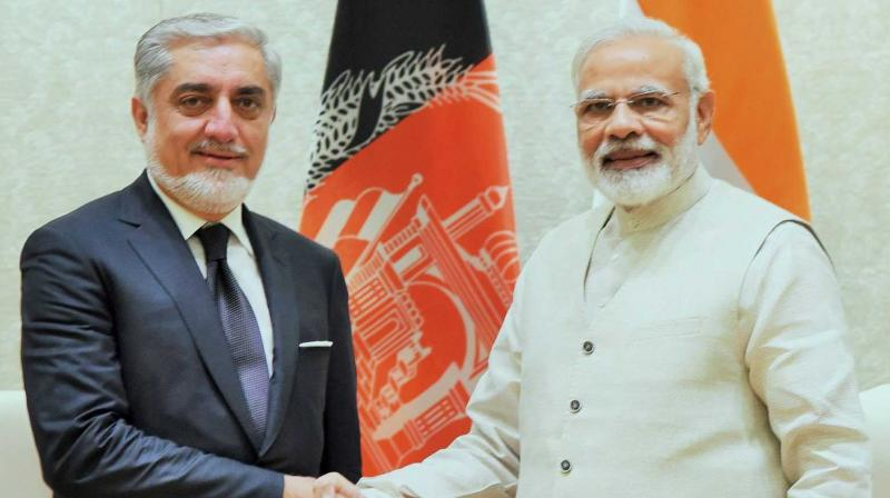 Afghan chief executive Abdullah Abdullah and Prime Ministe Narendra Modi. (Photo: PTI)