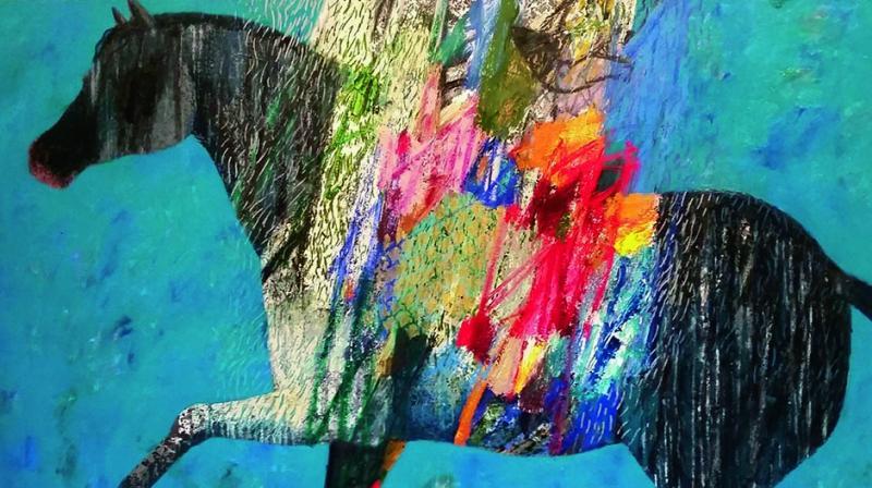 Paintings by Omar Al Rashid.
