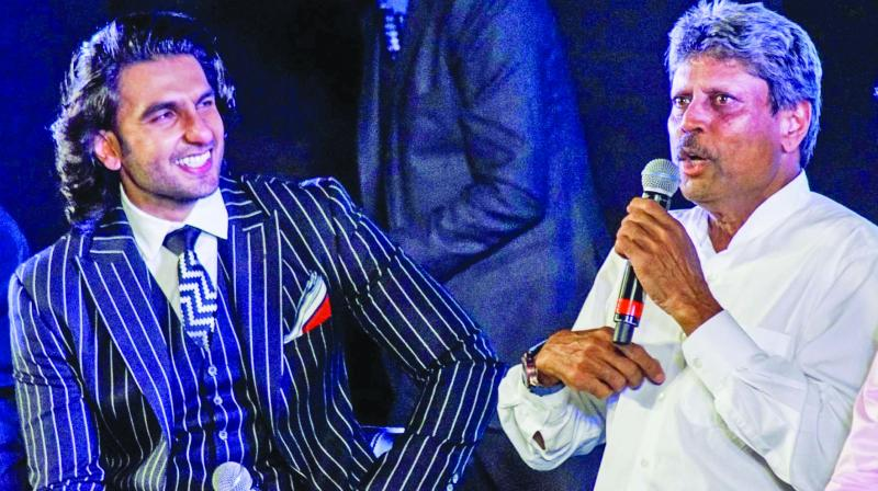 Ranveer Singh and Kapil Dev.